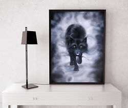Wolf Painting Original On Canvas Oil Fantasy Wildlife Wall Art Signed By Artist