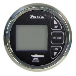 Faria 13752 Chesapeake Black Ss Depth Sounder With Air And Water Temperature