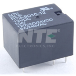 Nte Electronics R73-1d10-12 Relay Spst-no 10a 12vdc Submini Pc Board Mount