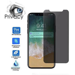 Privacy Tempered Glass Protector Screen Full Coverage Film Skin For iPhone XF2