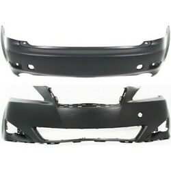 New Set Of 2 Bumper Covers Facials Front And Rear Lx1000163 5211953925 Pair
