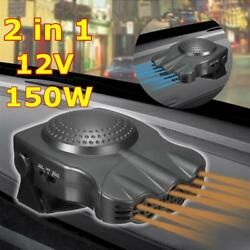 180 Degree Rotating Defrost and Defog Car Heater Portable 2 In 1 Auto Car Heater