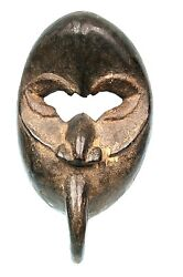 Art African Arts First - Very Antique And Authentic Mask Dan Mahou - 20 Cms
