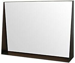 38 L Wall Mirror With Shelf Steel Framed Flat Polished Mirror Contemporary
