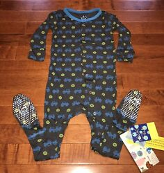 Kickee Pants Stone Tractor Toddler Boy Footie 3t New