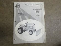 Cub Cadet 42 42 Snow Dozer Blade Owners And Maintenance Manual
