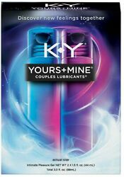 K-y Yours And Mine Couples Lubricants Intimate Pleasure Gel 3 Fl Oz Pack Of 4