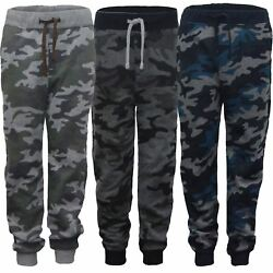 Kids Camo Print Jogging Trousers Girls Boys Sweatpants Bottoms Tracksuit 3 14 Y GBP 7.98