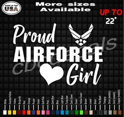 Proud Air Force Girl Decal Sticker Air Force Girlfriend Vinyl Decal Stickers