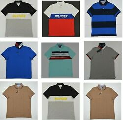 NWT Men#x27;s Tommy Hilfiger Short Sleeve Wicking Performance Pique Polo Shirt $32.00