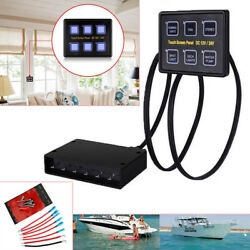 6 Gang LED Touch Screen Panel Slim Switch Controls Car Boat Truck Marine 12V24V