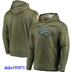 Nike Denver Broncos 2018 Mens Nfl Salute To Service Therma Sts Hoodie Xl