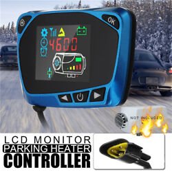 1224V Parking Heater Controller Switch LCD Monitor Car Track Air Diesel Heater