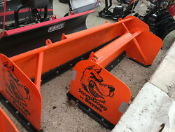 Compact Tractor Snow Pusher 6and039 Box Pusher By Buyers Scoop Dogg Video..