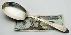 Antique Vintage Signed Queen Anne Sterling Silver Berry Spoon/server