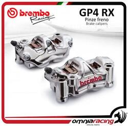 Brembo Racing Pair Of Cnc Gp4rx P4 32 108mm Radial Calipers Sx+dx Wibrake Pads