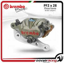 Brembo Racing P2 Pf2x28 Offroad Axial Front Brake Caliper With Bracket Ktm Sxs