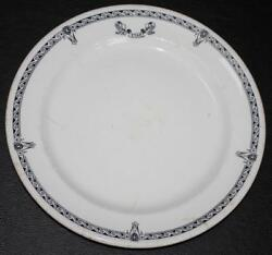 White Star Line Rms Olympic Era Pattern 2nd Class Dinner Plate 1920's A/f 1.