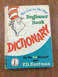 Dr Seuss Dictionary The Cat In The Hat Beginner Book PD Eastman 1964