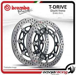 Pair Of Front Brake Discs Brembo T Drive 320mm Mv Agusta F3 800 Ago 12