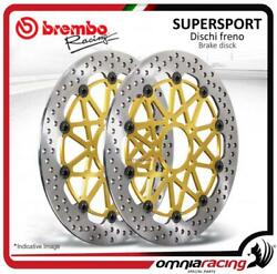 Pair Of Front Brake Discs Brembo Supersport 310mm For Kawasaki Z800/e/ Abs 2013