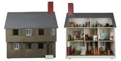Paul Revere 34 Doll House And Furniture 73 Pc Vintage Wood Accessories Miniatures