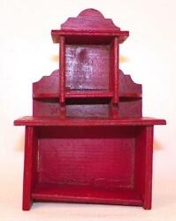 Dollhouse Miniature Sideboard Hutch Wood Wooden Kitchen Dining Room Vintage 5