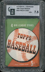 1954 Topps Baseball Wax Pack NM+ 7.5 GAI 7.5 PSA does not have holder this size.