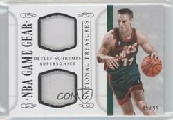 2014 Panini National Treasures Nba Game Gear Duals /99 Detlef Schrempf Ggd-ds