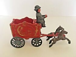 Vintage Complete Arcade Cast Iron Horse Drawn Circus Wagon Carriage Antique Toy