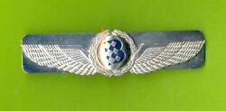 1990and039s Airbaltic Latvian Airlines Old Logo Pilot Breast Wings Badge Obsolete