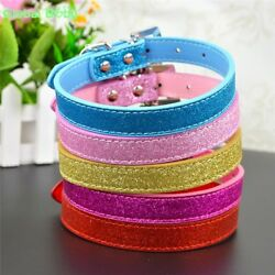 GlobalBaby® 50 PcsLot Bling Design Pet Dog Collar 4 Sizes With Heart Puppy
