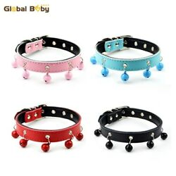 GlobalBaby® 40 PcsLot 4 Colors 3 Sizes Pet Collar Soft Cowhide Leather Dog