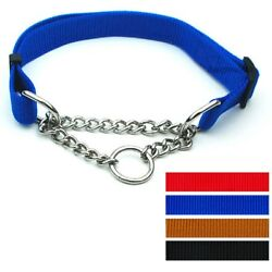 GlobalBaby® 20PcsLot Mixed Nylon Solid Series Control Chain Dog Pet Collar