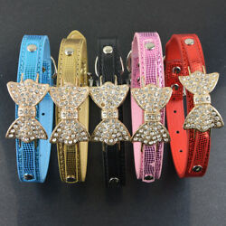 GlobalBaby®50 PcsLot Snake Bright Pu Leather Collar For Dog Pet Cat Butterfly