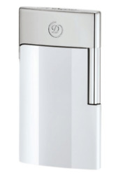S.t. Dupont E Slim 7 Electronic Rechargeable White Lighter 027003e New In Box