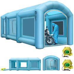 Inflatable Spray Booth Tent Car Paint Booth 2 Blowers Capacious Filter System
