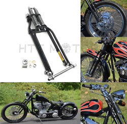 26 New 4 Over Stock Black Springer Front End W/ Axle For Harley Custom Arched