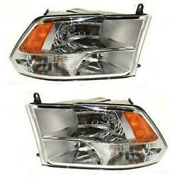 2009-2018 For Dodge Ram 1500 2500 3500 Factory Quad Style Headlights Headlamps
