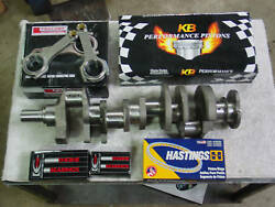 Chevy 454 496 Stroker Kit Bbc Crankshaft Rods Wiseco Pistons 4340 Forged .100