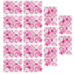 15Pcs Artificial Flower Wall Panel Hall Home Wedding Venue Decor Hot Pink