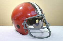 Cleveland Browns Marietta Clear Shell Vintage Game Used Worn Football Helmet And03973