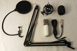 Condenser Microphone Bundle (Mic Cable Shield Arm wElbow Cage Foam Cover)