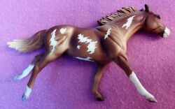 Breyer stablemates - G2 Thoroughbred - etched to overo pinto by K Dodds