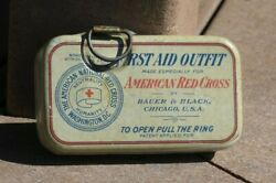 Ww1 Us Army Military Pow American Red Cross Bauer Black First Aid Outfit Kit