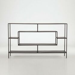 66 L Buffet Table Sideboard Antique Zinc Finished Hand Forged Cast Iron