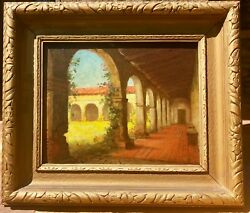 William Barr Early Ca Listed Oil On Board Mission San Juan Capistrano
