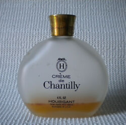 Vintage Houbigant Chantilly Frosted Glass Vanity Parfum Perfume Scent Bottle
