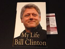 Bill Clinton President My Life Signed Auto Hard Copy Book Psa/dna Letter