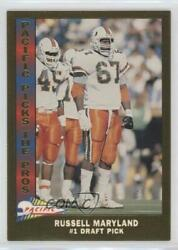 1991 Pacific Picks The Pros Gold Russell Maryland 1 Rookie